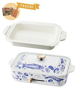 BRUNO Compact Electric Griddle Hot plate Ceramic Pan Pescato