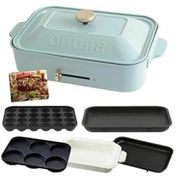 BRUNO Compact Hot Flat & Takoyaki & Pan & Grill & Multi Plat