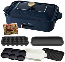 BRUNO compact hot plate body 5 types of plates (Takoyaki cer