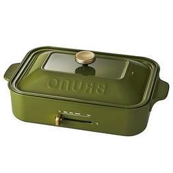 BRUNO compact hot plate BOE021-OL Olive Multi Plate Set & Ce
