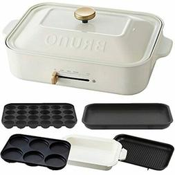 Compact Hot Plate + Ceramic Coated Pan Grill Multi-plate 4-p