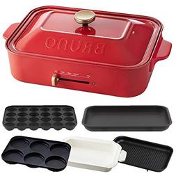 BRUNO Compact hot plate + ceramic coated pan + grill plate +