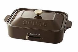 BRUNO compact hot plate BOE021-BR Brown Multi Plate Set Cera