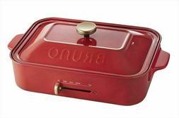 BRUNO Compact Small Hot Plate TAKOYAKI Grill AC100V BOE021-R