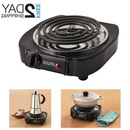 Cooktop Single Electric Burner Portable Camp RV Hot Plate St