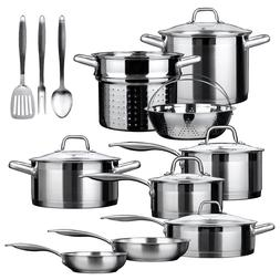 Cookware SetZ Stainless-steel 17-piece  Duxtop Professional