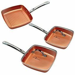 Copper Chef Square Fry Pan 5 Pc set