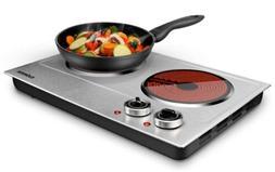 Cusimax Countertop Burners 1800W Ceramic Electric Hot Plate