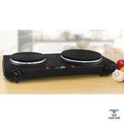 Double Burner Electric Portable Cooktop Countertop Stove Coo
