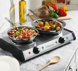 Portable Cooktop Double Burner Hot Plate Counter Top Electri