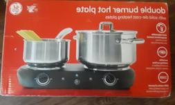 GE Double Burner Hot Plate Electric Portable Stove Solid Die