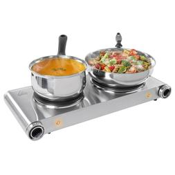 Double Electric Hotplate Portable Hot Plate Burner 1800W Hob