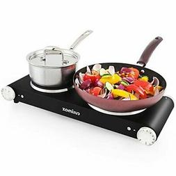 Cusimax Double Electric Hot Plate - Stainless Steel Countert