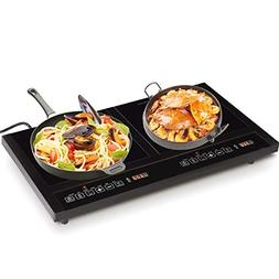 Costway 1800W Double Induction Cooktop Portable Electric Dua