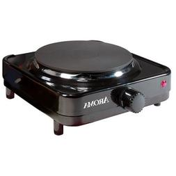 Aroma Durable Die-Cast Flat Single-Burner Portable Electric