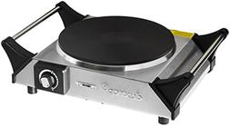 DUXTOP 1500W Portable Electric Cast Iron Cooktop Countertop