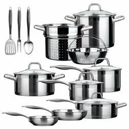 Duxtop Professional Stainless-steel 17-piece Induction Secur