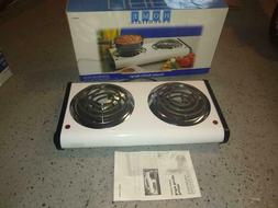 Electric 2 Burner Range-Stove Top High Powered Cooktop Kitch