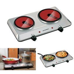 Electric Cooktop 2 Burner Infrared Ceramic Hot Plate Portabl