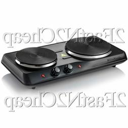 Electric Cooktop Burner Cast Iron Glass Hot Plate 2 Two Cook