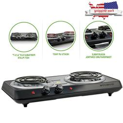 Electric Cooktop Double Burner Hot Plate 2 Two Cooking Stove
