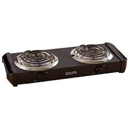 electric cooktop double burner outdoor portable hot