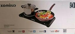 Cusimax 1800W Electric Countertop Burner - Double Infrared C