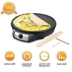 Electric Crepe Maker, iSiLER 1080W Electric Pancakes Maker G
