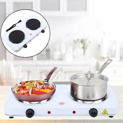 Electric Double Burner 2000W Hot Plate Portable Camping Dorm