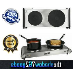 Electric Double Burner Hot Plate Commercial Portable Stove 1