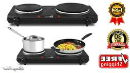 Electric Double Burner Hot Plate Countertop Stove Cooker 150