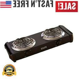 Electric Double Burner Hot Plate Heating Cooking Stove Porta