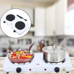 Electric Double Burner Hot Plate Portable Stove Range Heater