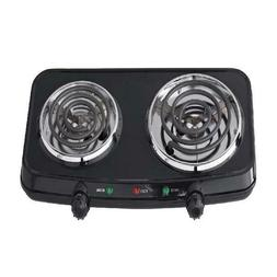 Electric Double Burner Hot Plates Heating Portable Camping C