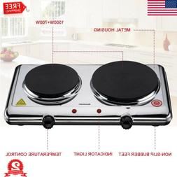 Electric Double Burner Portable Hot Plate Kitchen Cooker Sto