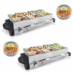 Electric Food Warming Tray Buffet Server Hot Plate Food Warm