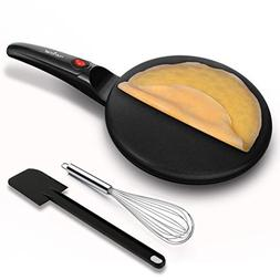 NutriChef Electric Griddle Crepe Maker - Pan Style Hot Plate