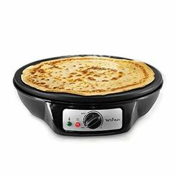 NutriChef Electric Griddle & Crepe Maker | Nonstick 12 Inch