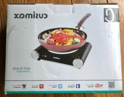 Cusimax Electric Hot Plate Portable Stove Countertop Single