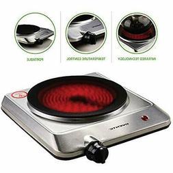 Electric Infrared Cooktop Countertop 1000W Burner Ceramic Gl