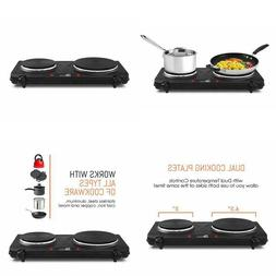 Electric Portable Cooktop Double Stove Hot Plate Dual Burner
