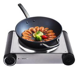 Electric Single Burner Hot Plate Heater Countertop Portable