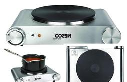 Electric Stove Burner Stainless Steel Hot Plate Portable Coo