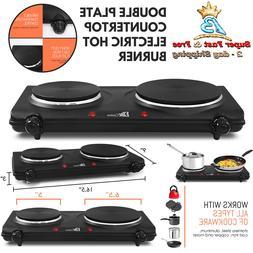 Double Flat Plate Countertop Electric Hot Burner Temperature