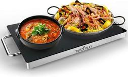 NutriChef Electric Warming Tray, Food Warmer, Hot Plate, Sta