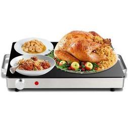Electric Warming Tray Glass Top Hot Plate Food Warmer 180-Wa
