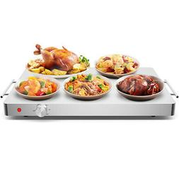 Electric Warming Tray Stainless Steel Hot Plate Food Warmer