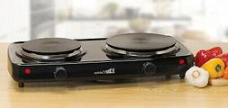 Elite EDB-302BF Double Burner Cast Iron Hot Plate