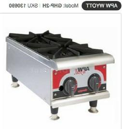 "APW Wyott GHP-2H Champion 12"" Natural Gas Manual Hot Plates"