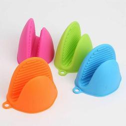 Gloves Silicone Kitchen Hot Plate Clip Heat Pot Anti Slip Co
